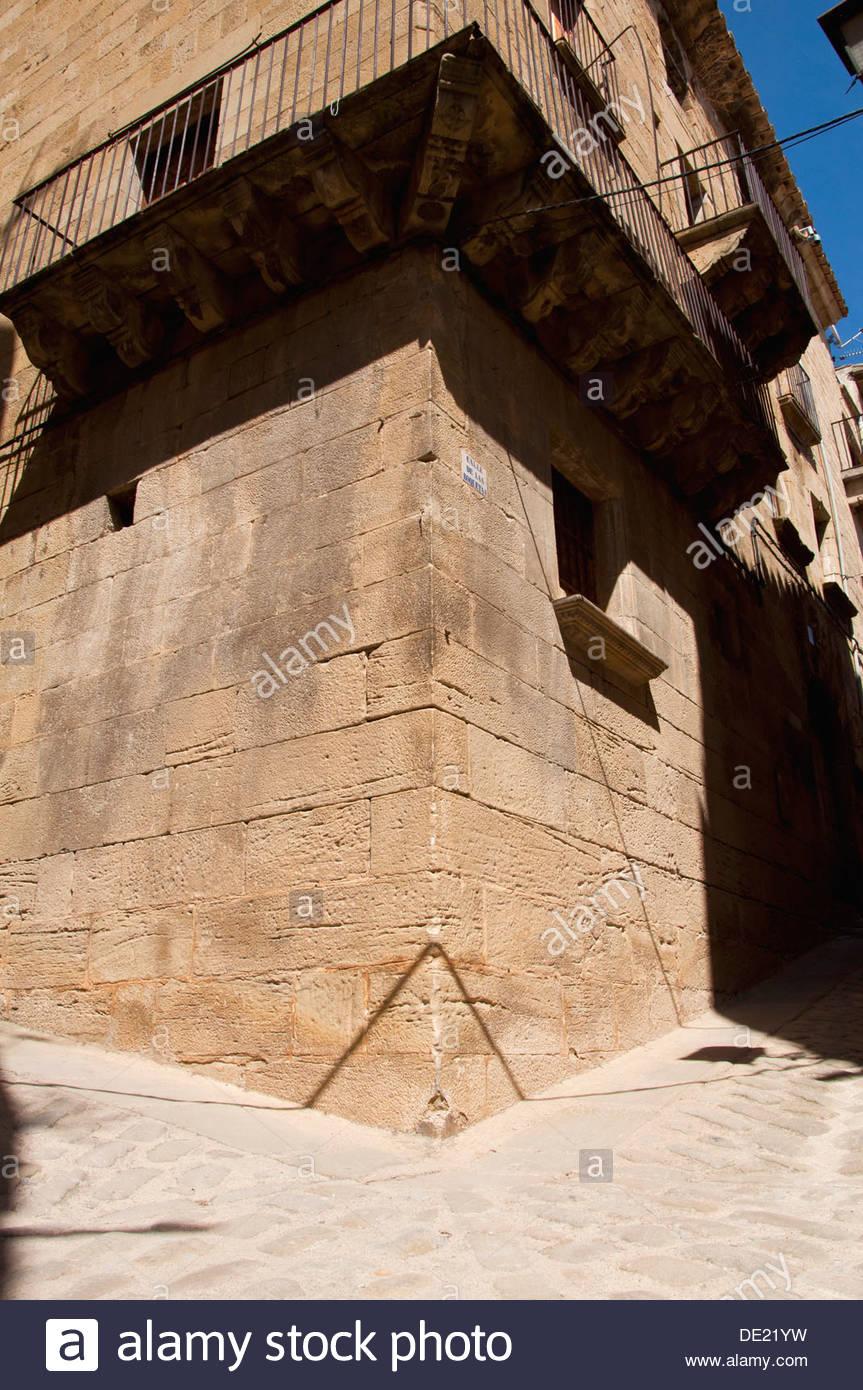 Historical house, Calaceite, Matarraña Region, Teruel, Aragon Community, Spain - Stock Image