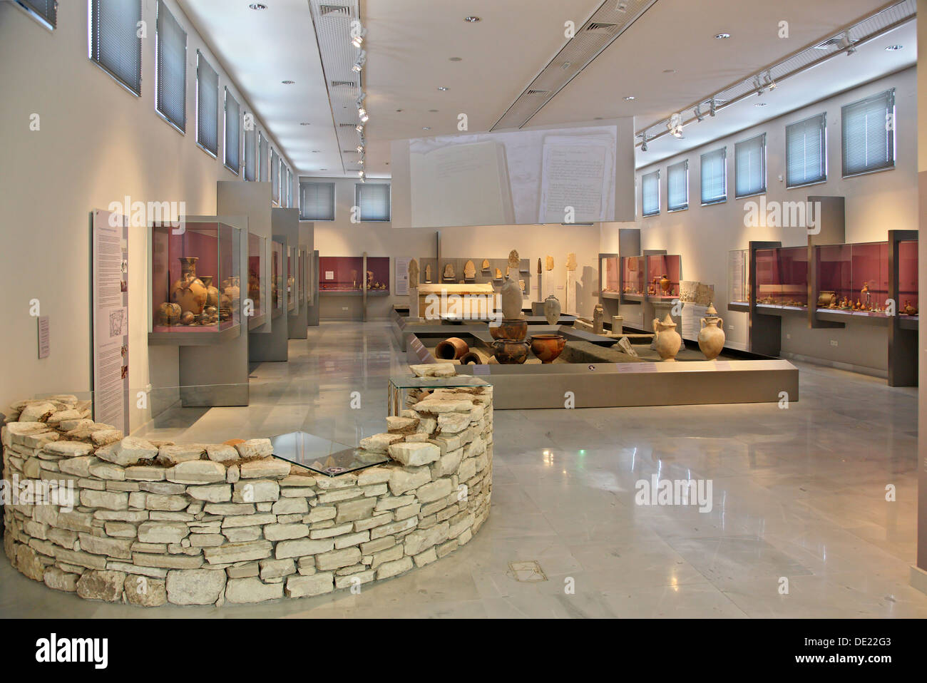 The archaeological museum of Pythagorion, Samos island, Aegean Sea, Greece. Stock Photo