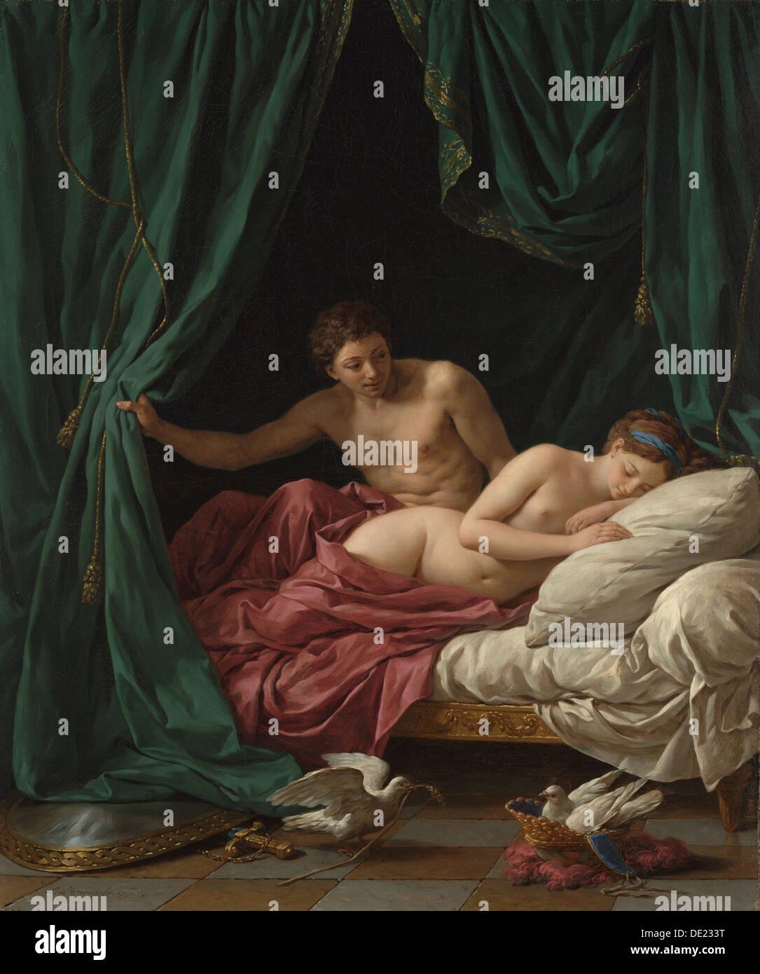 Mars and Venus, Allegory of Peace (Mars et Vénus, allégorie sur la Paix); Louis Jean François Lagrenée, French, 1725 - 1805; Fra - Stock Image
