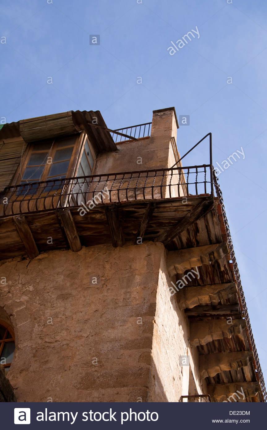 Historical residence in Calaceite, XVII century architecture, Matarraña region, Teruel, Aragon community, Spain - Stock Image