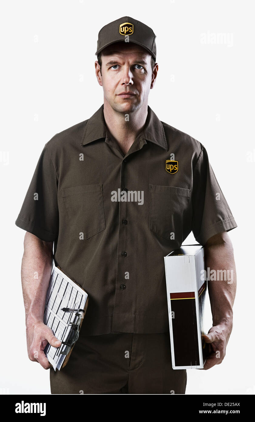 ups delivery man stock photos ups delivery man stock images alamy