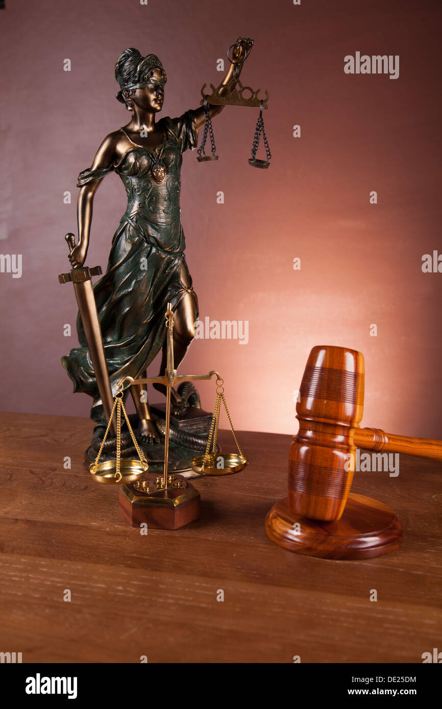 Law and justice concept. - Stock Image
