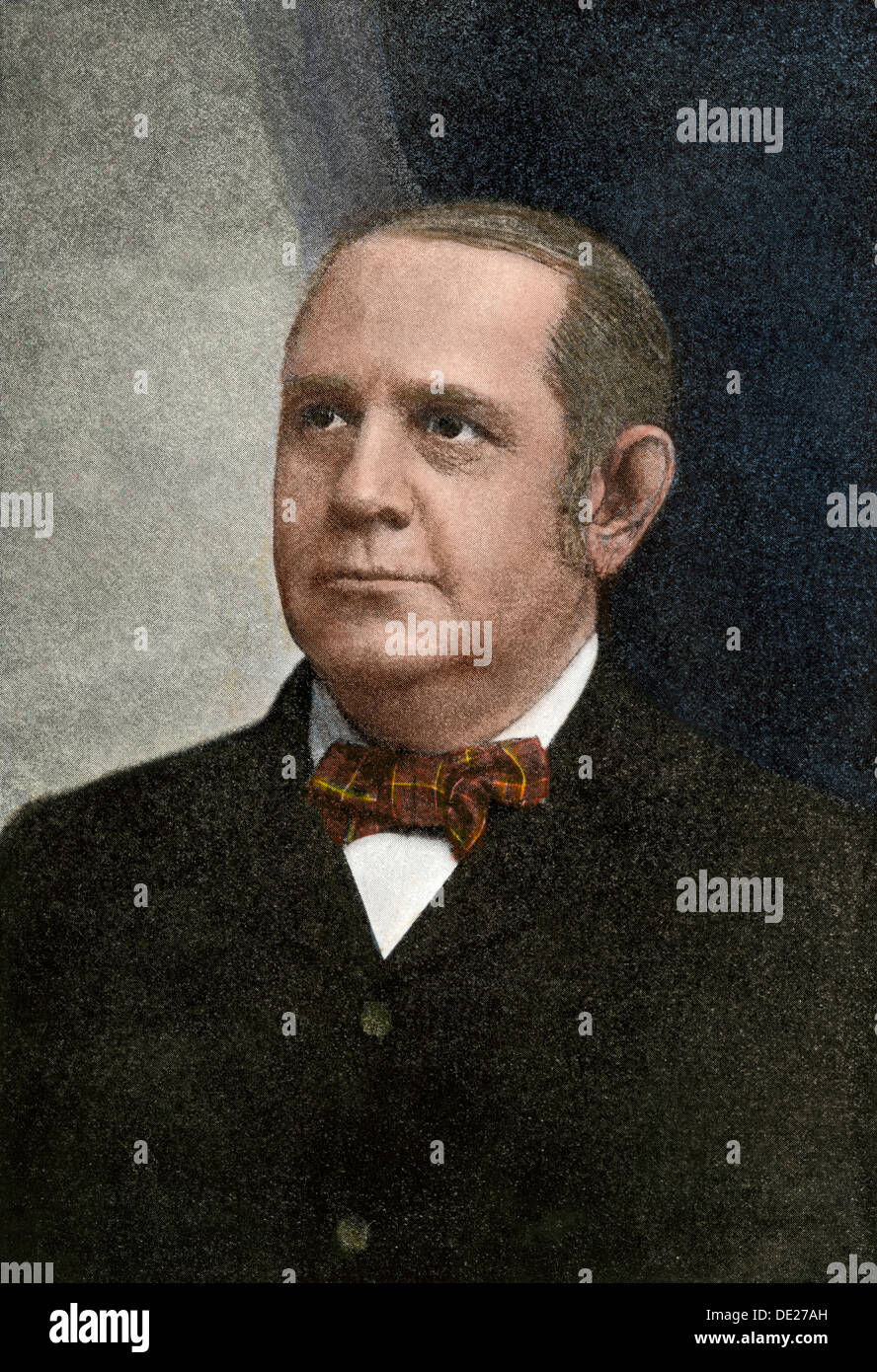 Senator Mark Hanna, Chairman of the Republican National Committee, 1901. Hand-colored halftone reproduction of a photograph - Stock Image