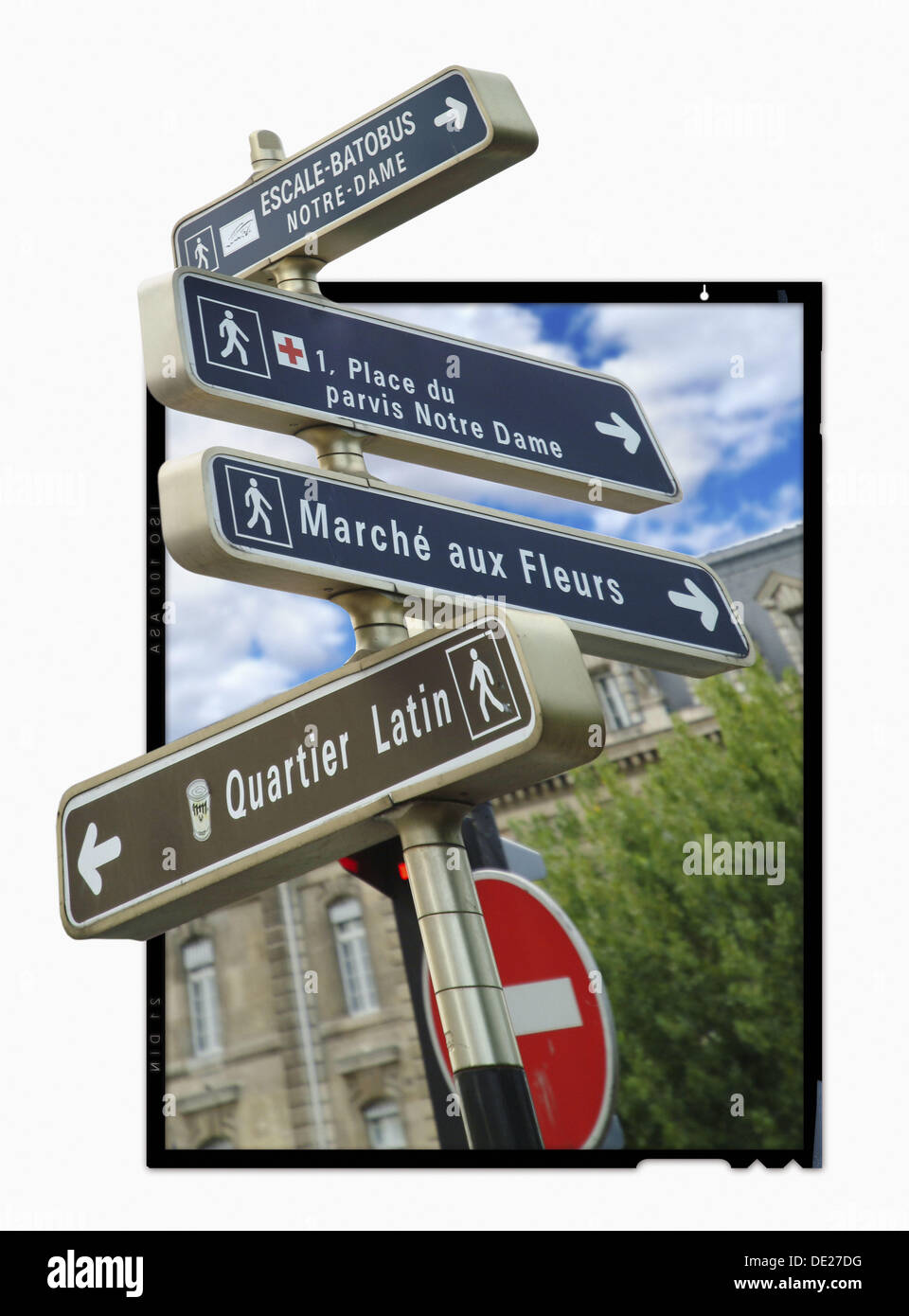 Outer signaling next to rio the Seine in Paris, France, Europa - Stock Image