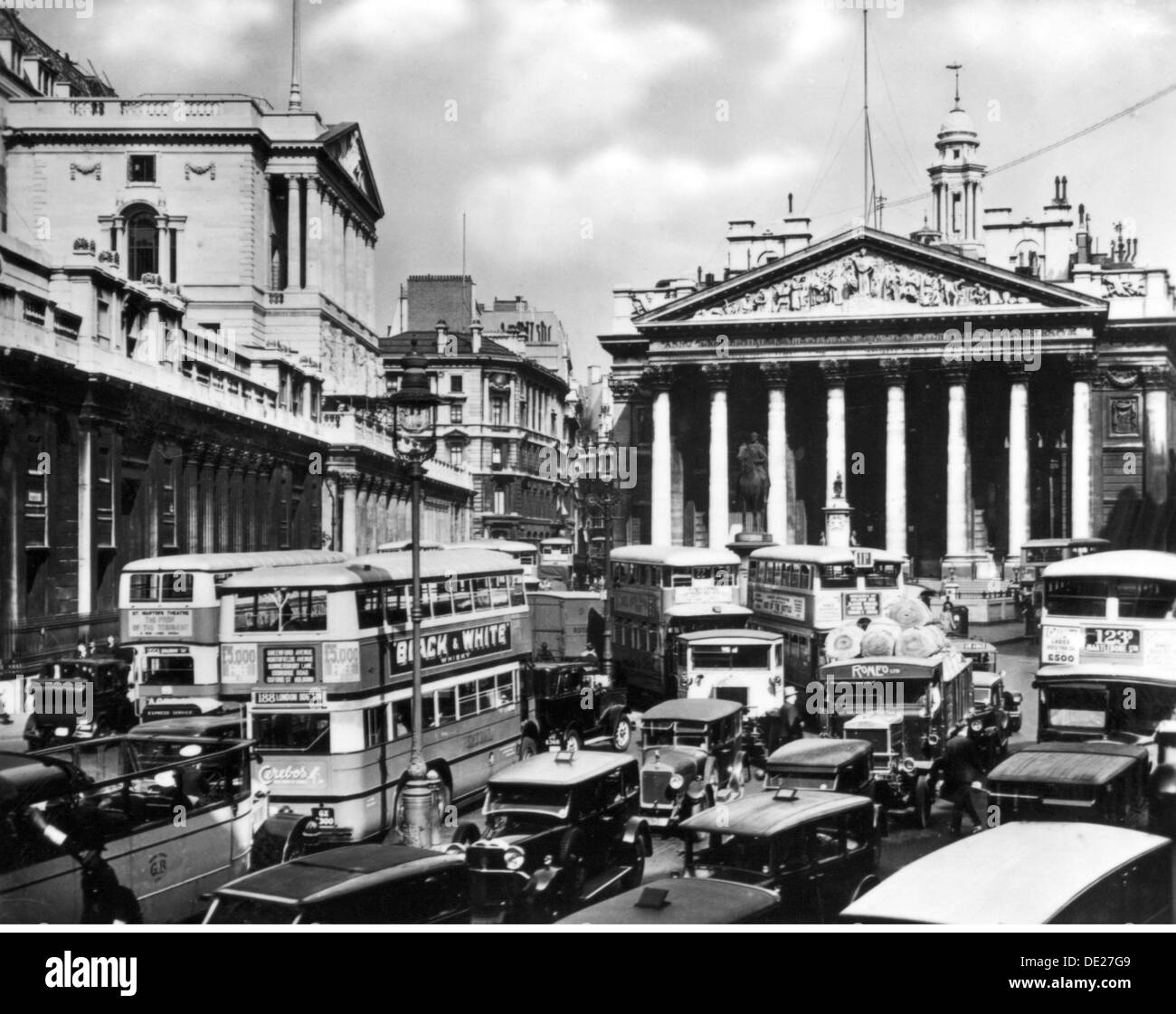 geography / travel, Great Britain, London, squares, Bank Junction during the rush hour traffic, view, circa 1930, Additional-Rights-Clearences-NA - Stock Image