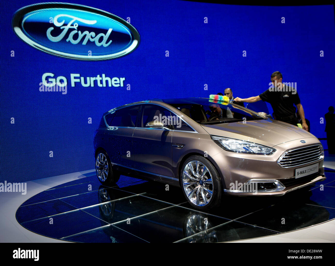 Frankfurt, Germany. 10th Sep, 2013. Ford car maker presented Ford S-Max Concept during 65th IAA International Motor Show in Frankfurt/Main, on Tuesday, September 10th, 2013. (CTK Photo/Petr Mlch) Credit:  CTK/Alamy Live News - Stock Image