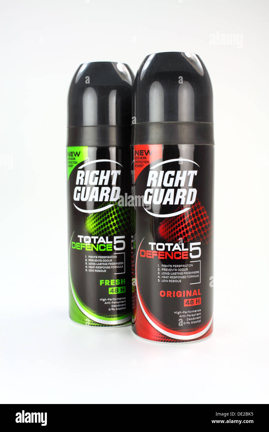 'Right Guard' brand aerosol deodorant - Stock Image