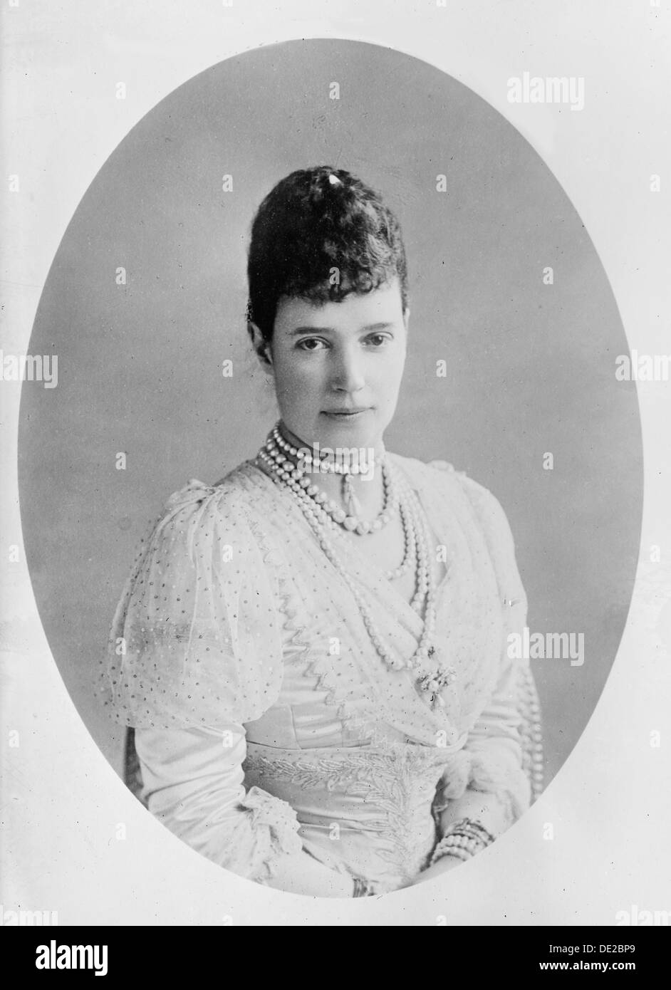 Dowager Empress Maria Feodorovna of Russia, 1911. Artist: Anon - Stock Image
