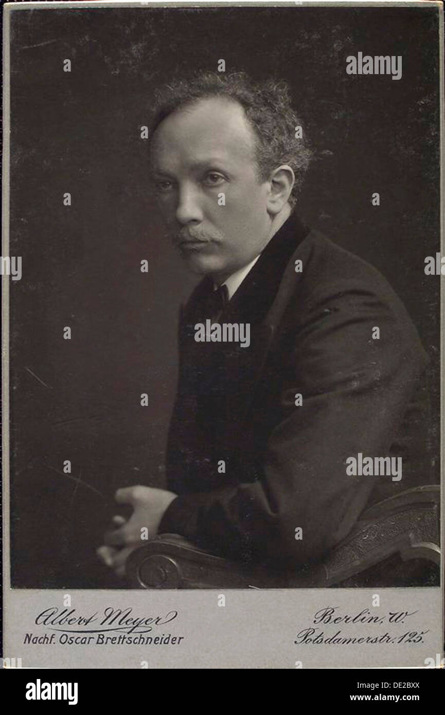Richard Strauss, German composer, late 19th or early 20th century.  Artist: Albert Meyer - Stock Image