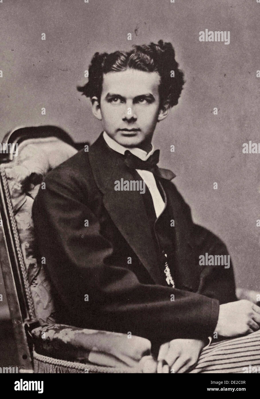 King Ludwig II of Bavaria, 1867. Artist: Joseph Albert - Stock Image