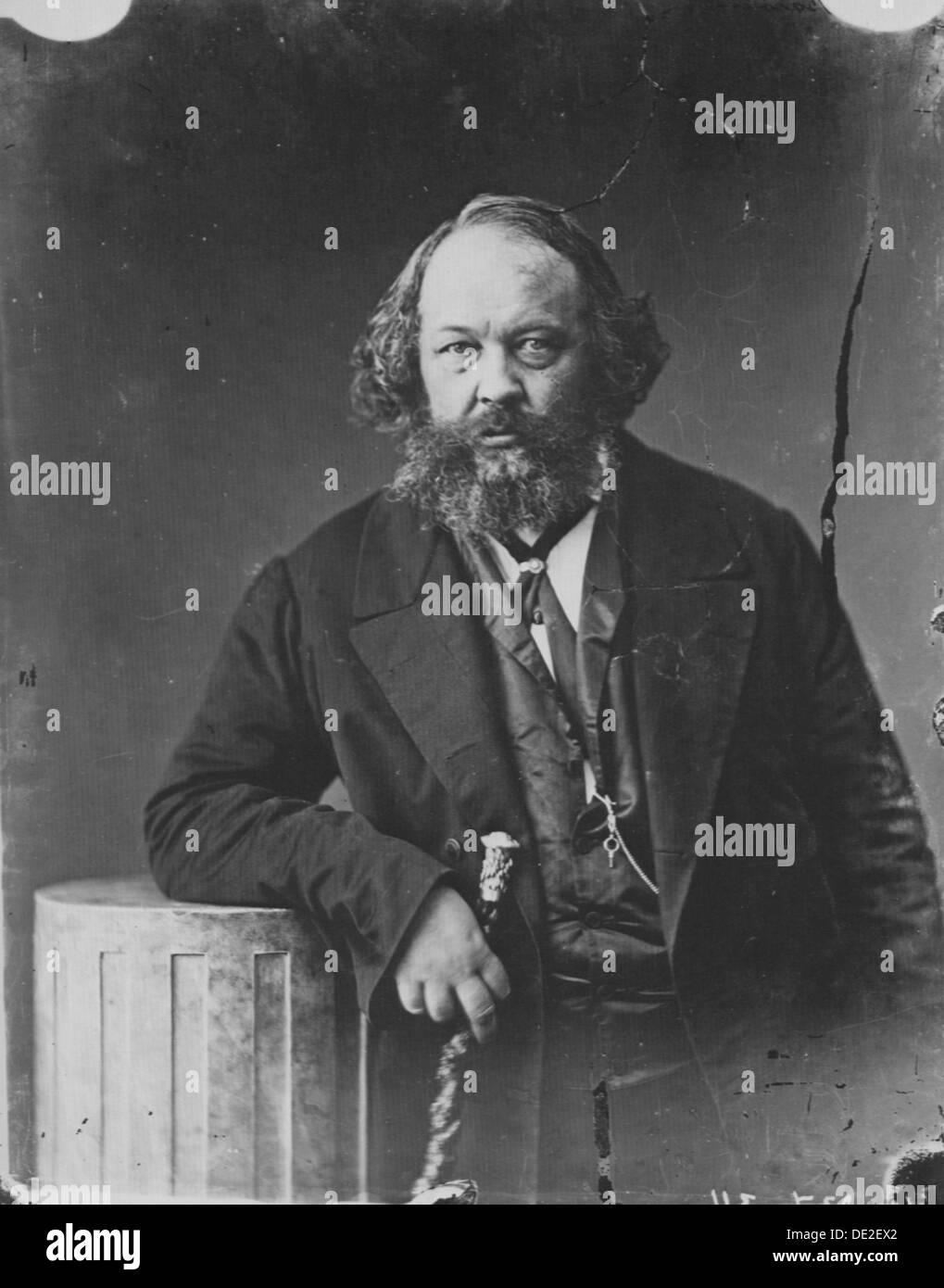 Mikhail Bakunin, Russian revolutionary and theorist of anarchism, c1863. Artist: Gaspard-Felix Tournachon - Stock Image