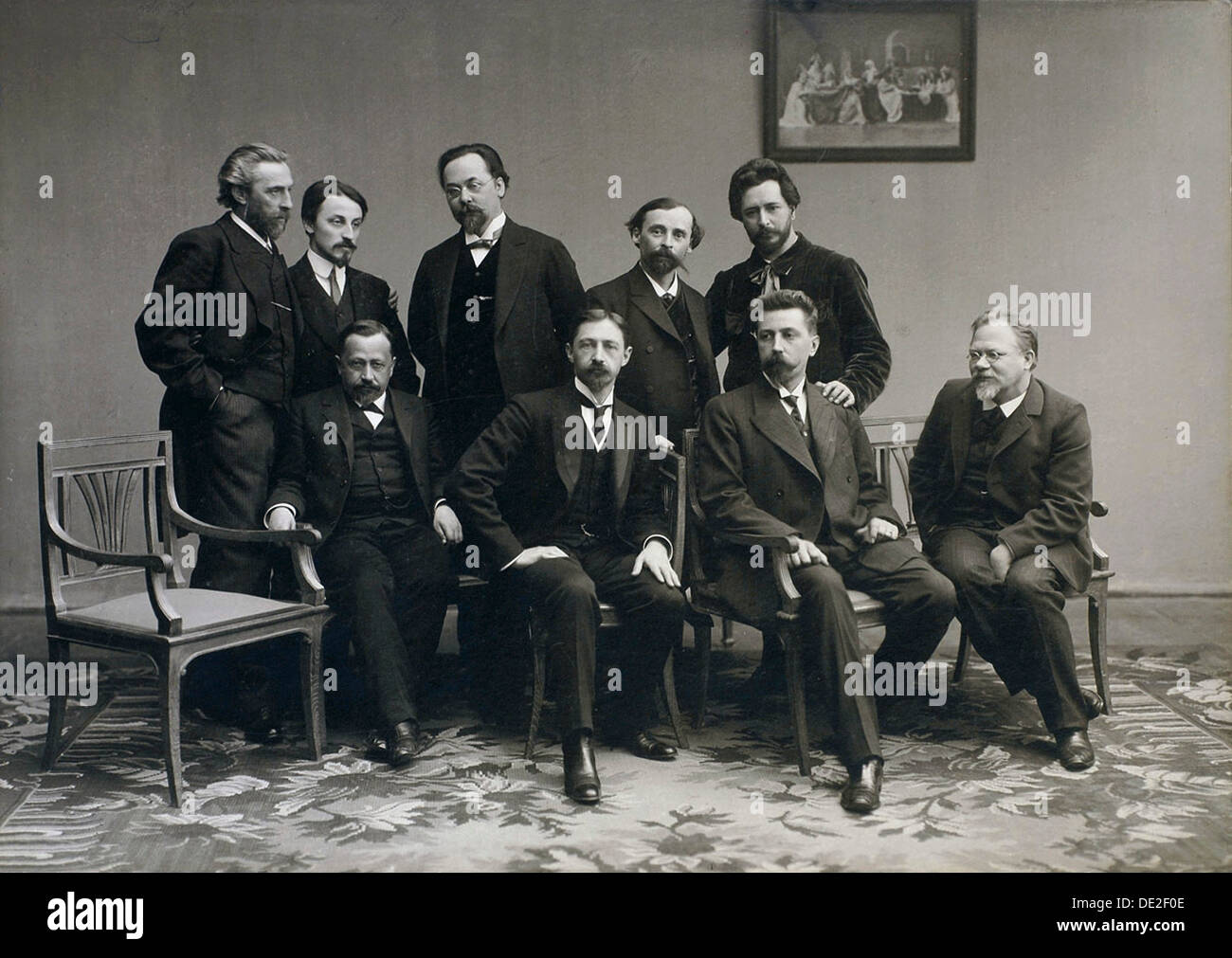 'Sreda' ('Wednesday'), Russian literary group, 1890s. - Stock Image