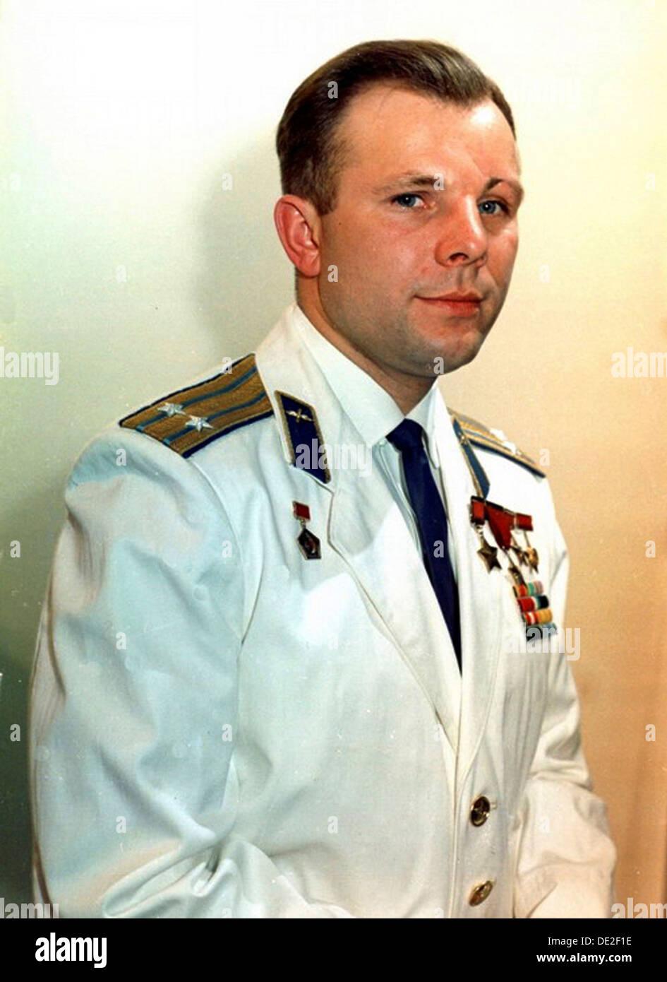 Yuri Gagarin, Russian cosmonaut, 1960s. - Stock Image