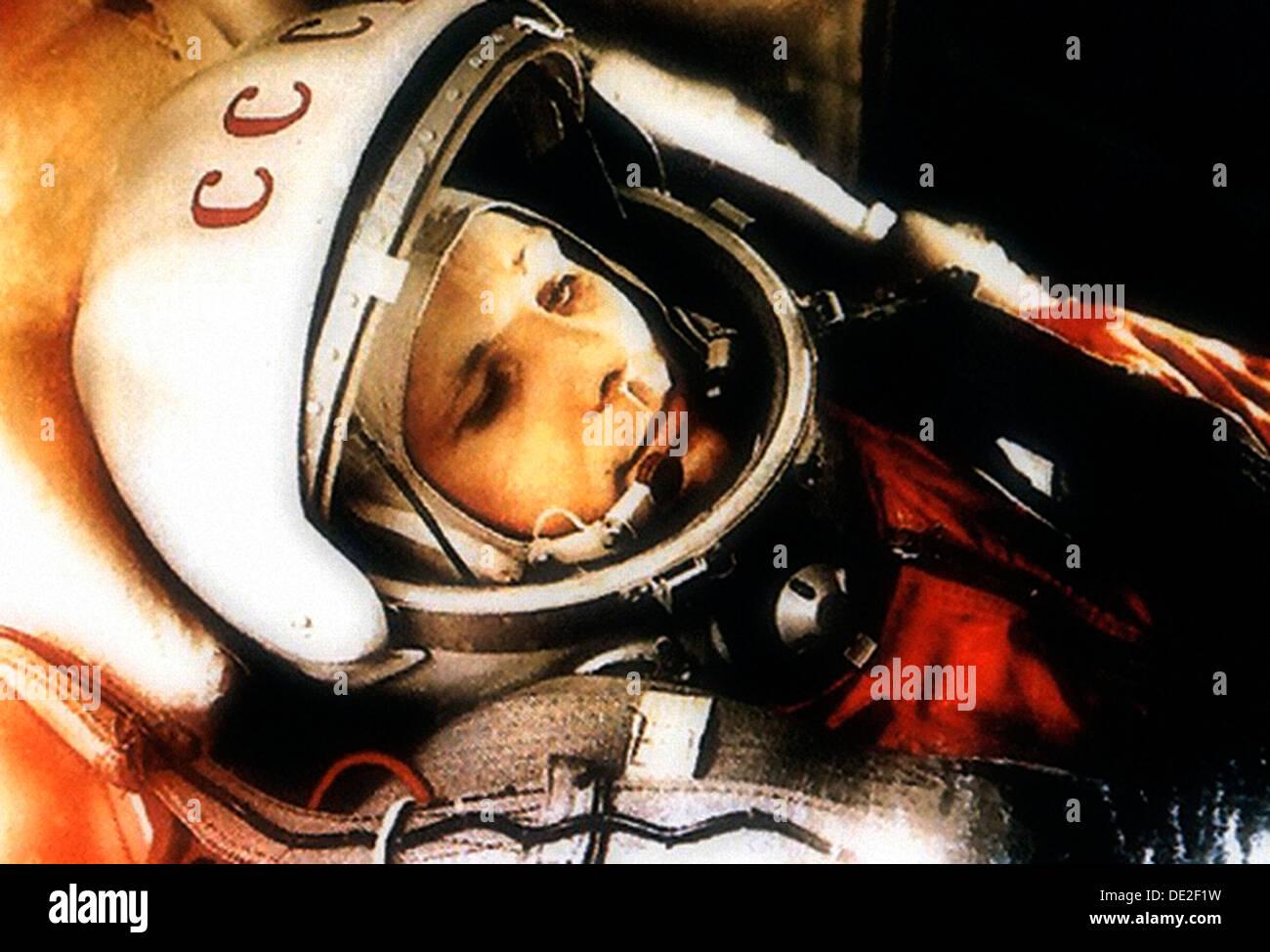 Yuri Gagarin, Russian cosmonaut, 1961. - Stock Image