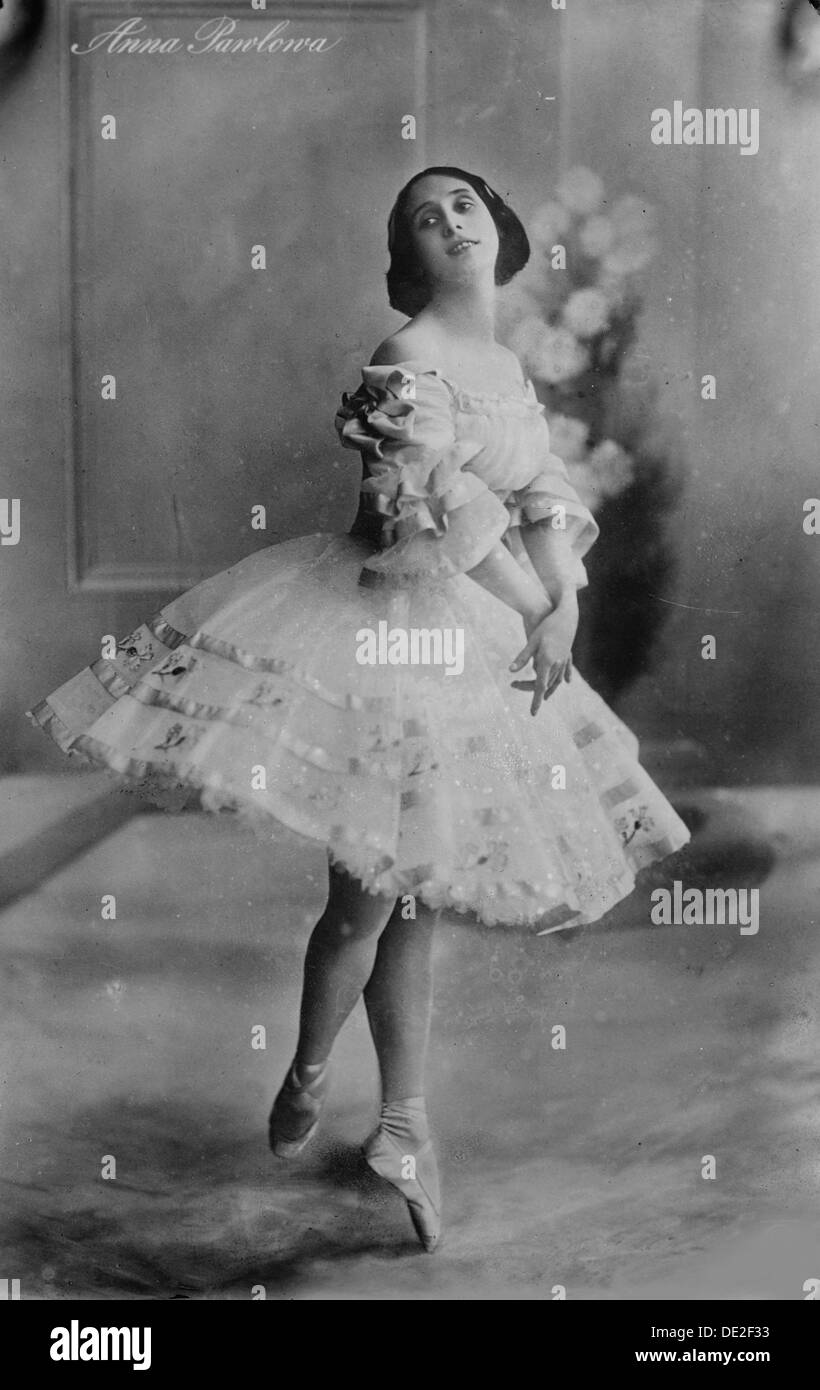 Anna Pavlova, Russian ballerina, 1910s. - Stock Image