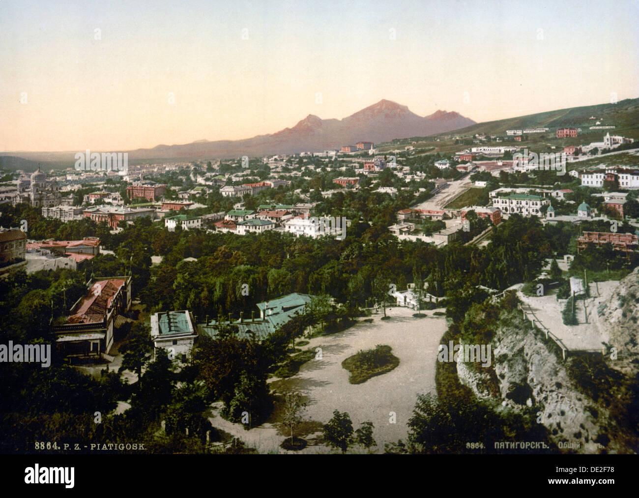 View of Pyatigorsk, Russia, 1895. - Stock Image