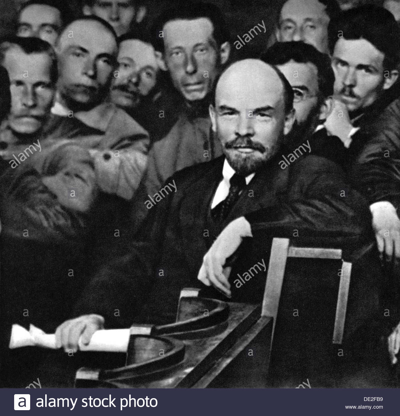 Russian Bolshevik leader Vladimir Ilich Lenin, Moscow, Russia, 1921.  Artist: Anon