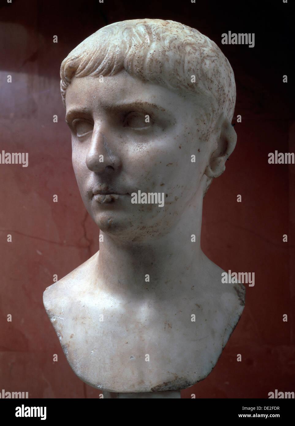 Marble portrait bust of Gaius Julius Caesar, 1st half of 1st century. - Stock Image