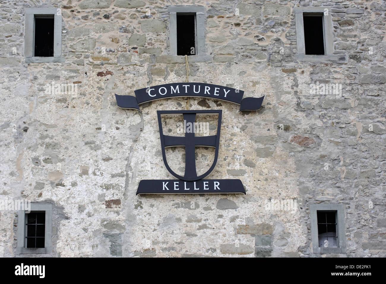 Stonework, Comturey Keller cellar, Mainau Island, Baden-Wuerttemberg, Germany - Stock Image