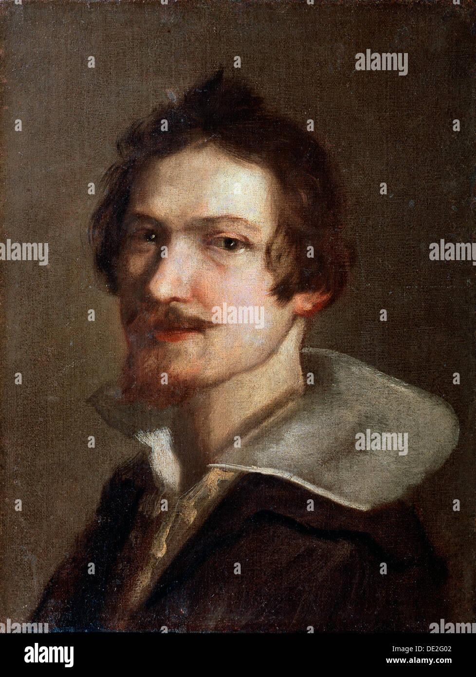 'Self-portrait', 17th century. Artist: Gian Lorenzo Bernini - Stock Image