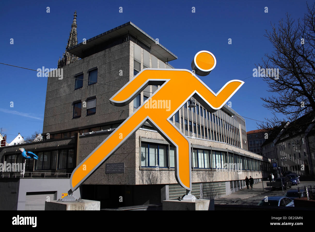 Human sculpture, depicted in movement - Stock Image