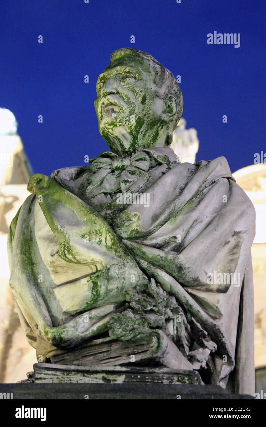 The statue of Aleksander Fredro (June 20, 1793 – July 15, 1876) was a Polish poet, playwright and author. Stock Photo