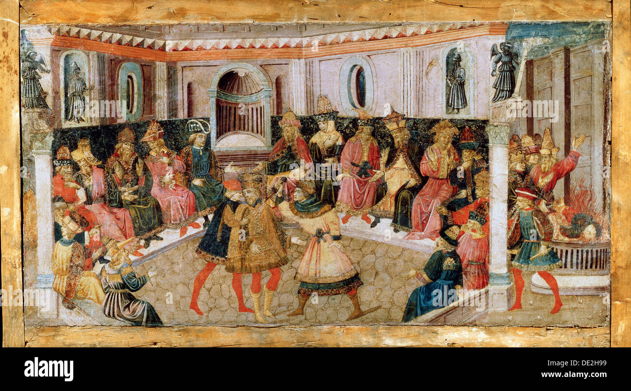 'The Assassination of Julius Caesar', 15th century.  Artist: Apollonio di Giovanni di Tommaso - Stock Image