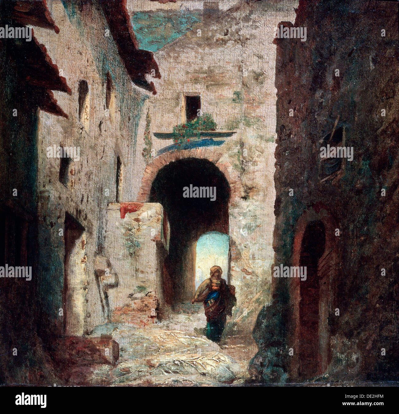 'The Moorish Gate', 1835.  Artist: Eugene IsabeyStock Photo