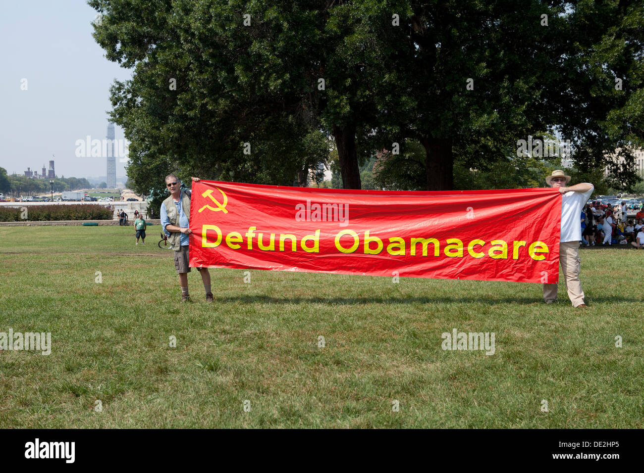 Tea Party activists gather on Capitol Hill to protest against ObamaCare - Washington, DC USA Stock Photo