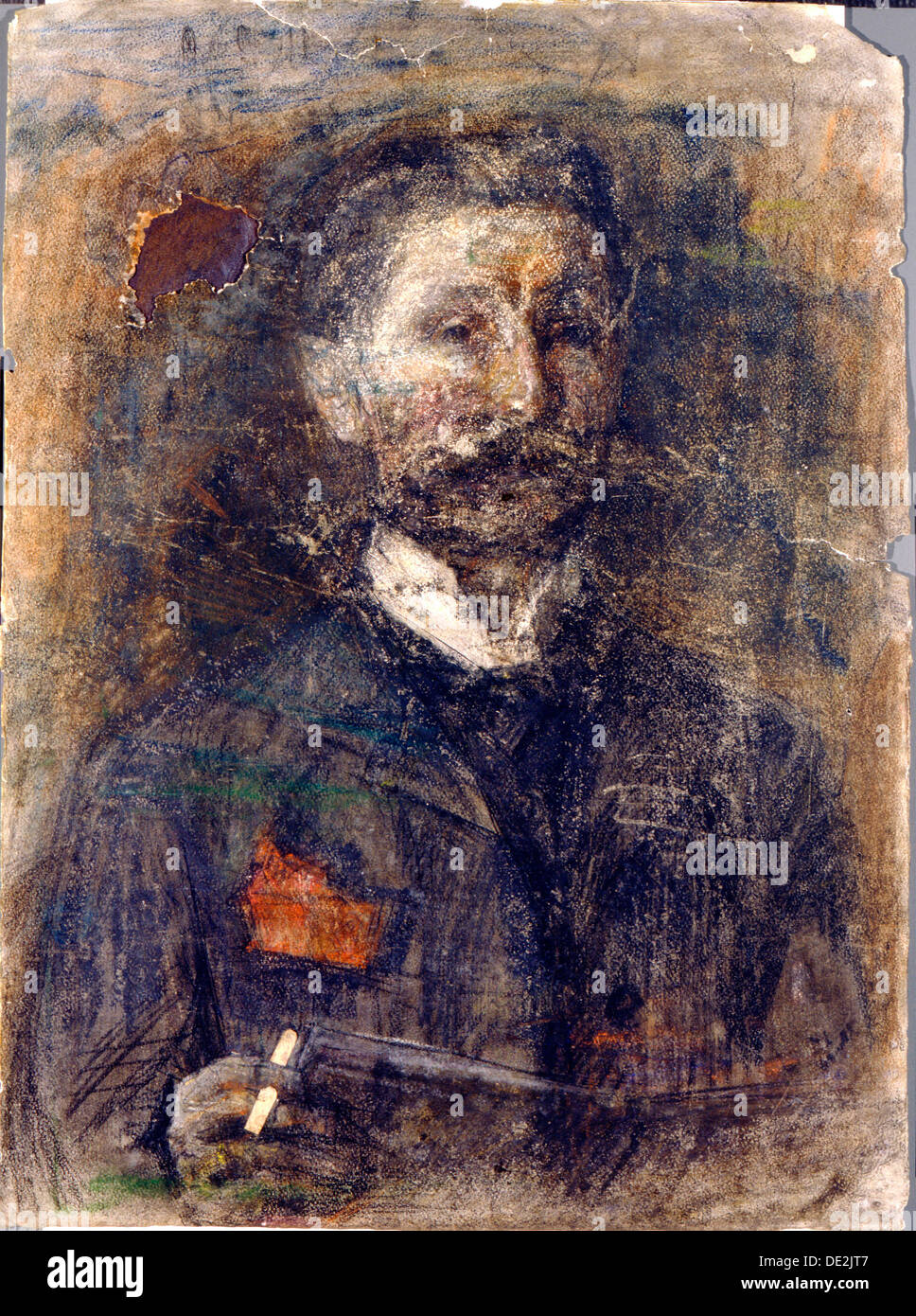 'Self-portrait', 1904.  Artist: Mikhail Vrubel - Stock Image