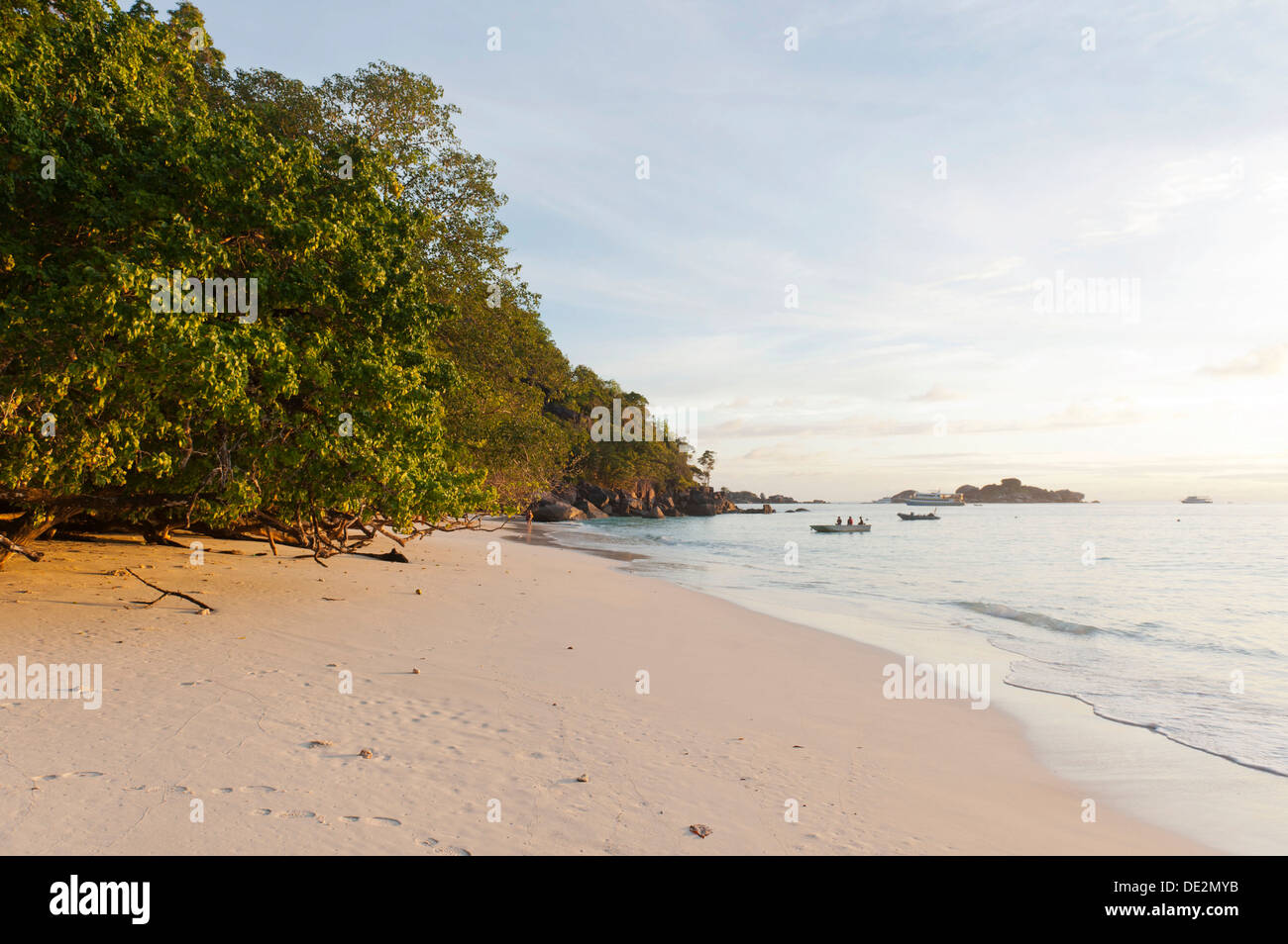 Had Lek Beach in the morning light, Nationalpark Mu Ko Similan, Ko Miang, Island Nr. 4, Phang Nga Province, Thailand - Stock Image