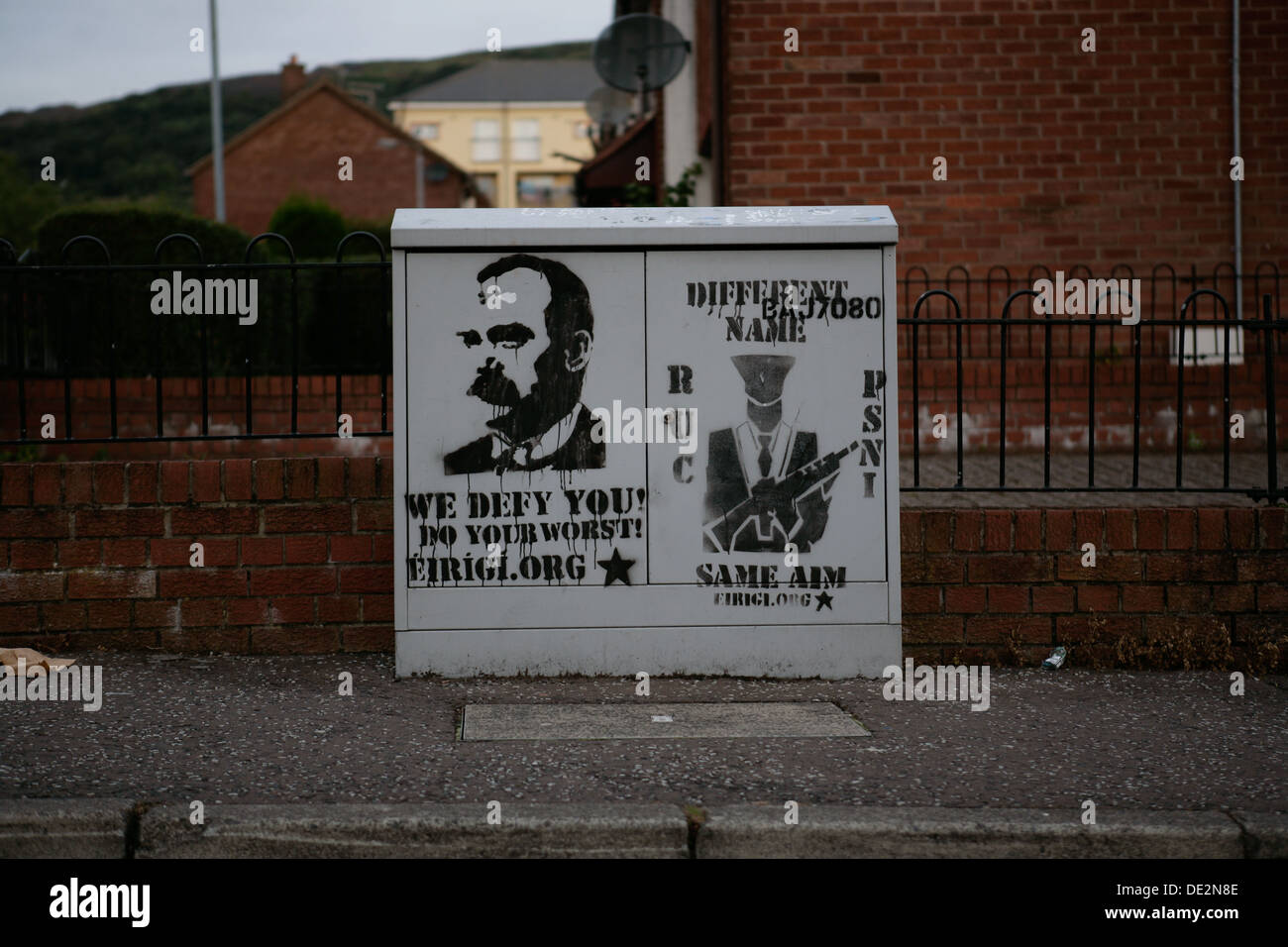 28th August 2013. Stencilled image of James Connolly, Sinn Fein, last member of the 1916 Easter Rising - Stock Image