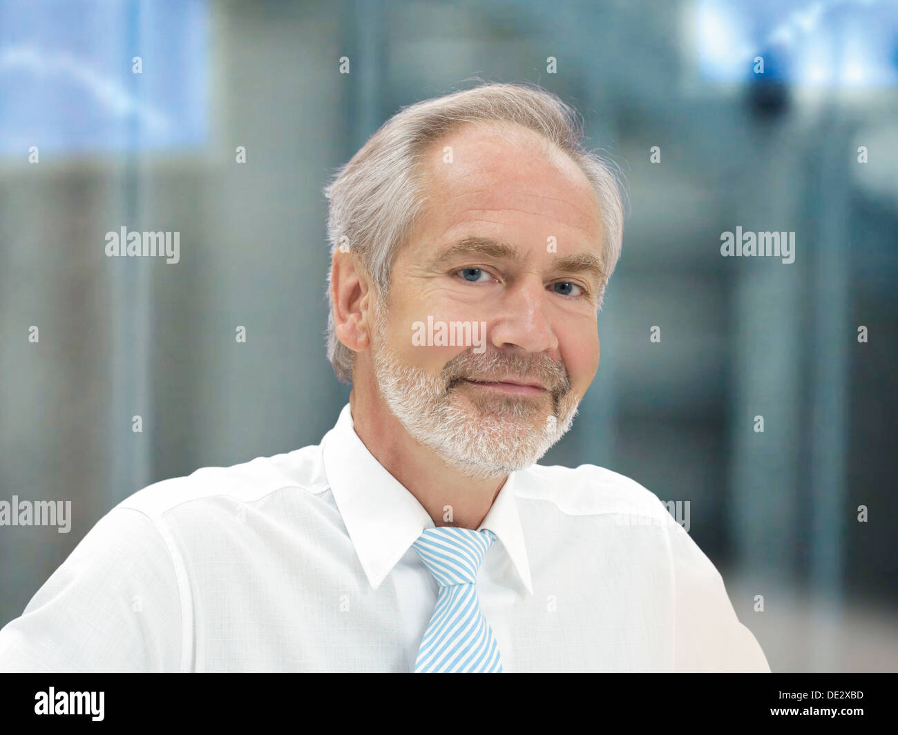 Senior, with an expression of competence - Stock Image