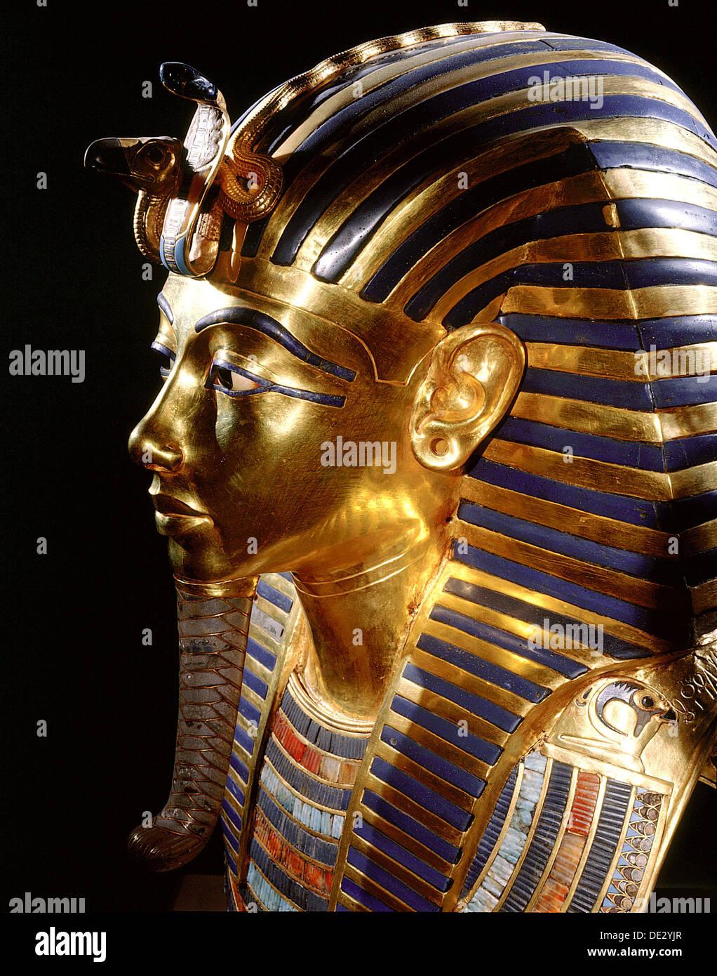 The mask of Tutankhamun. - Stock Image