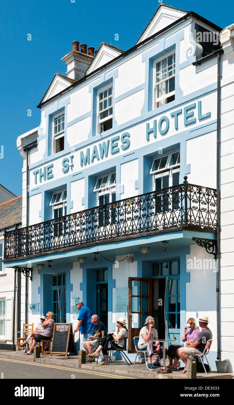 Great Britain, England, Cornwall, St. Mawes Hotel - Stock Image