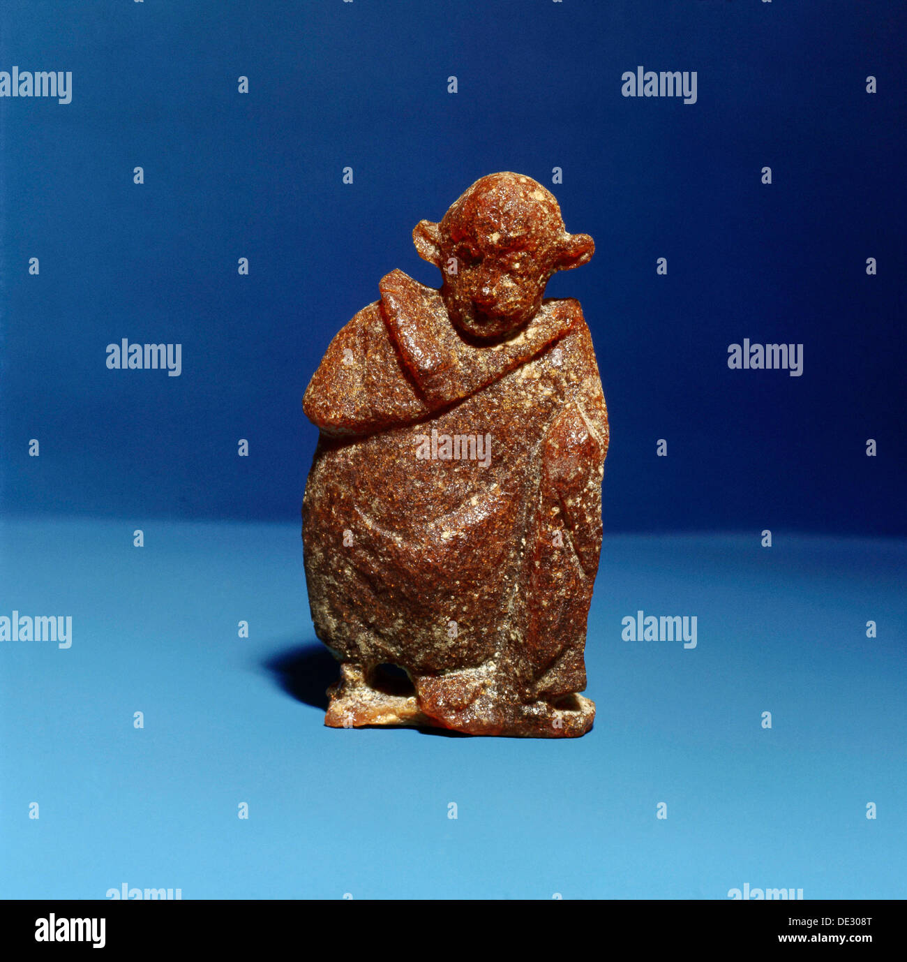 An amber statuette of an actor. - Stock Image