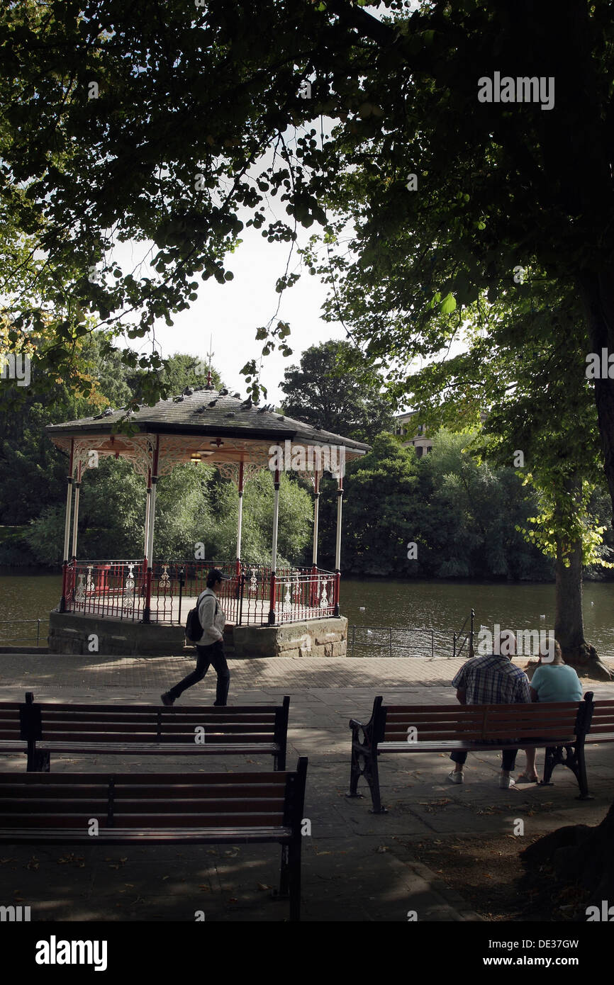 The Bandstand beside the River Dee in Chester, England. - Stock Image