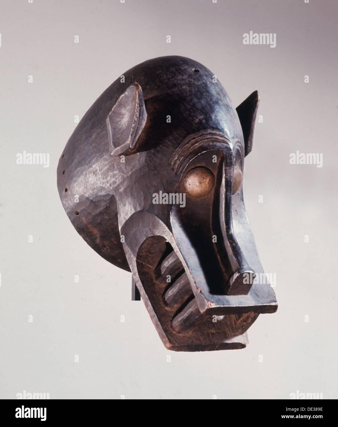 Senufo kunugbaha mask used in anti-witchcraft rites. - Stock Image
