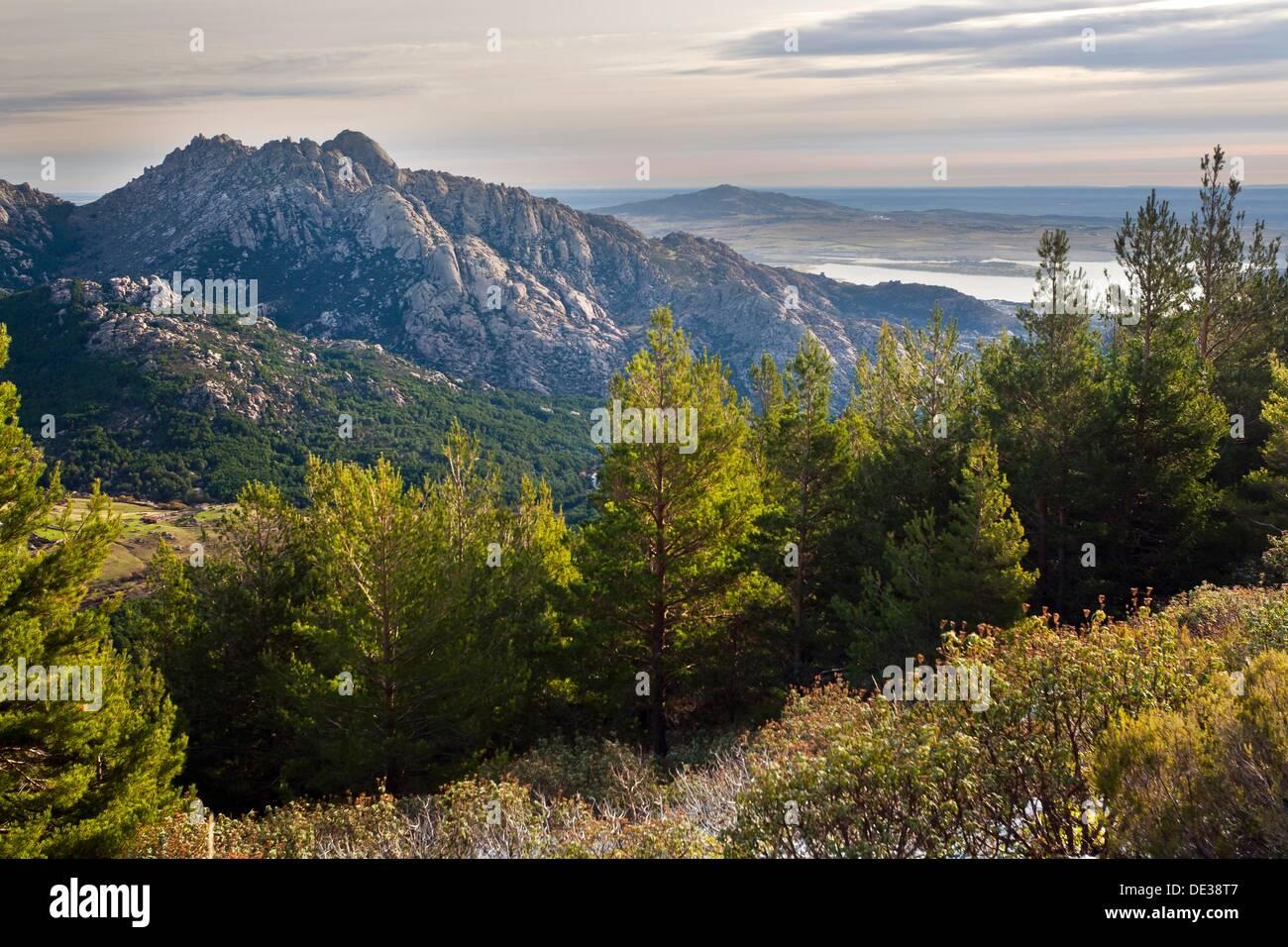 Pedriza Anterior and Santillana reservoir  Parque Regional de la Cuenca Alta del Manzanares  Manzanares el Real  Madrid  Spain - Stock Image