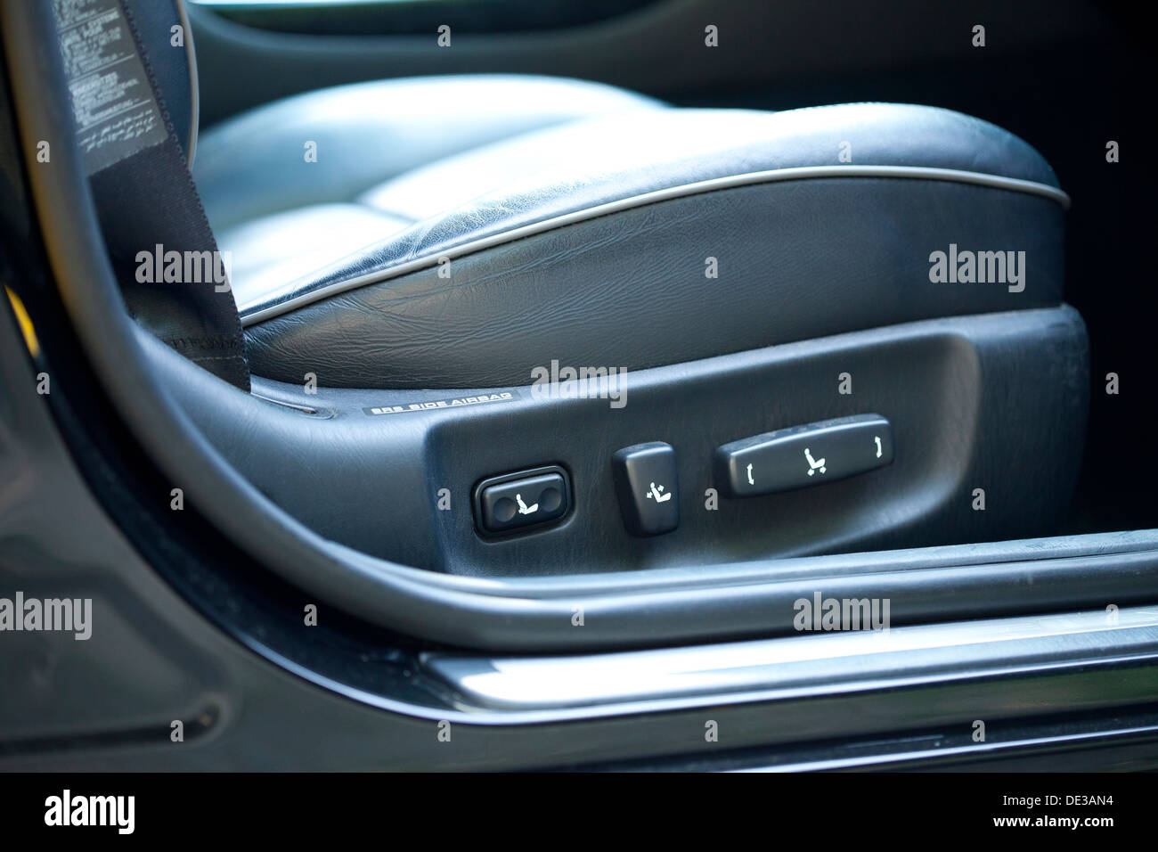 Modern car seat adjustment controls - Stock Image