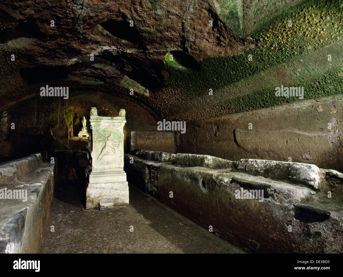 Mithraeum beneath the Church of St. - Stock Image