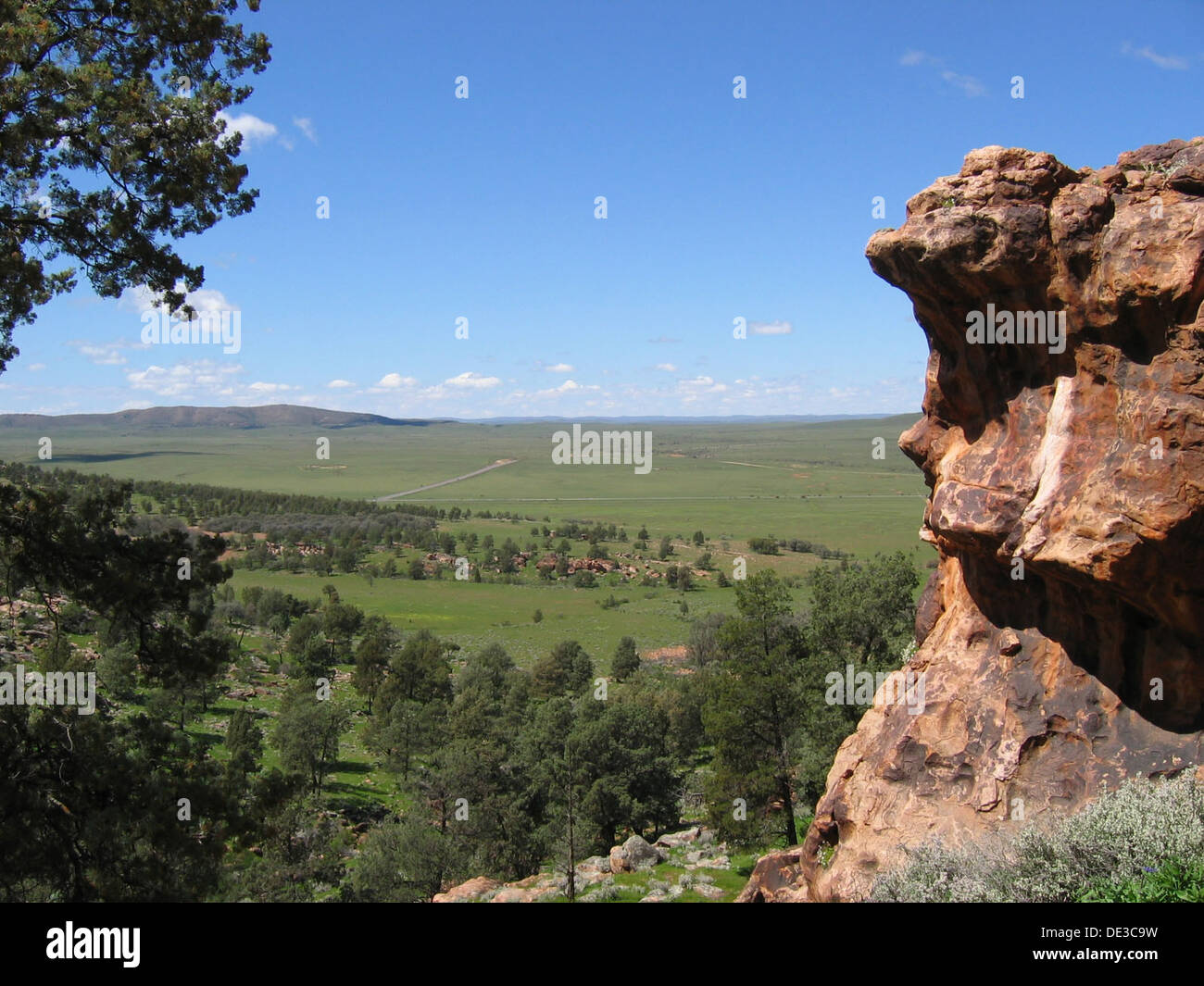 According to Aboriginal mythology two ancestral companions camped in this place while travelling in the Dreamtime - Stock Image