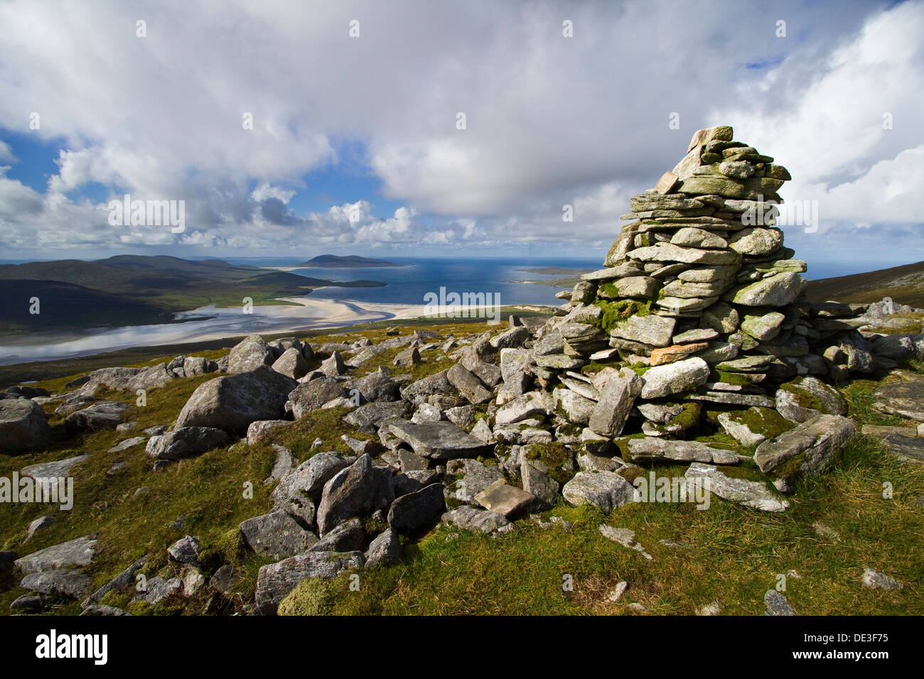 The summit of Beinn Losgaintir on the Isle of Harris, Scotland - Stock Image