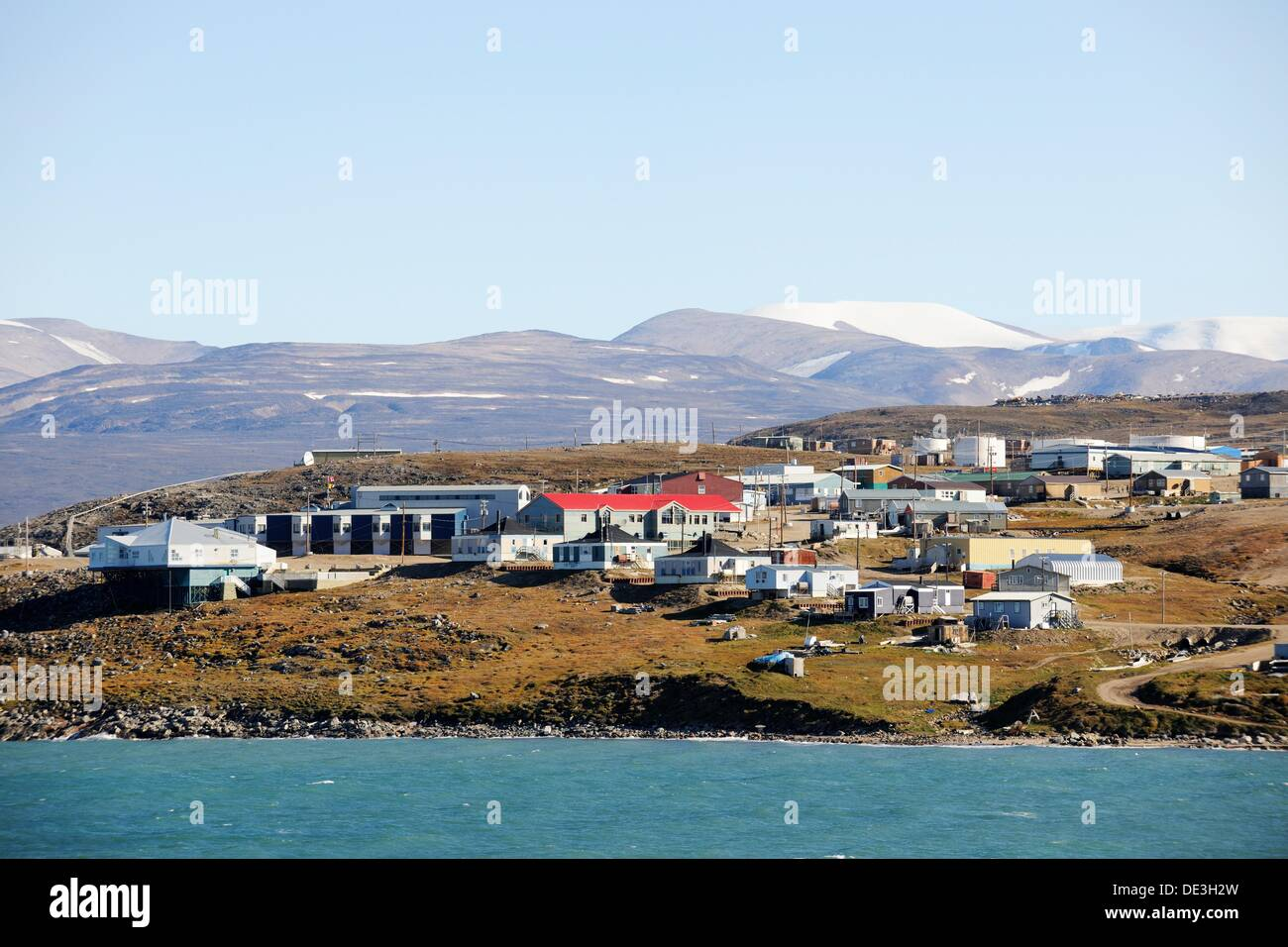 Pond Inlet Village, Baffin Island, Nunavut, Canada Stock Photo