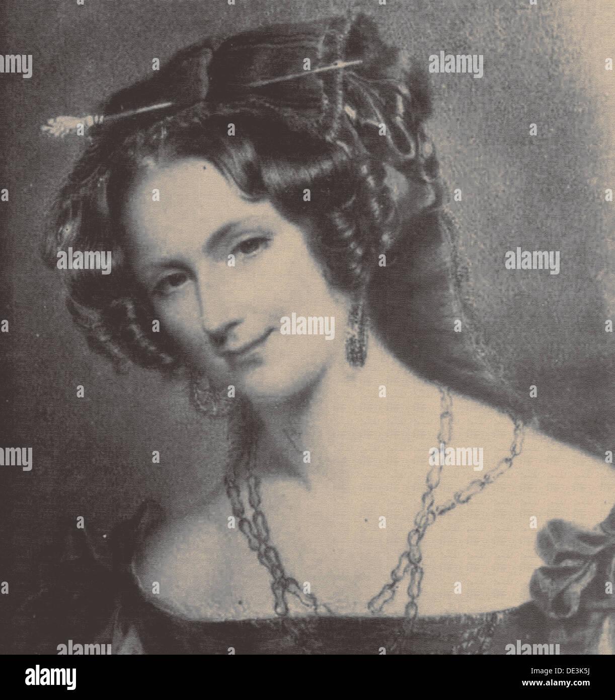 Portrait of Lady Catherine Caroline Montagu (1808-1834), wife of Count Alexandre Joseph Colonna-Walewski, 1830s. Artist: Anonymo - Stock Image