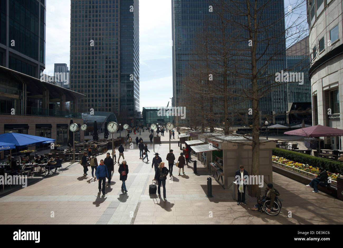 London, United Kingdom, Reuters Plaza in Canary Wharf Stock Photo