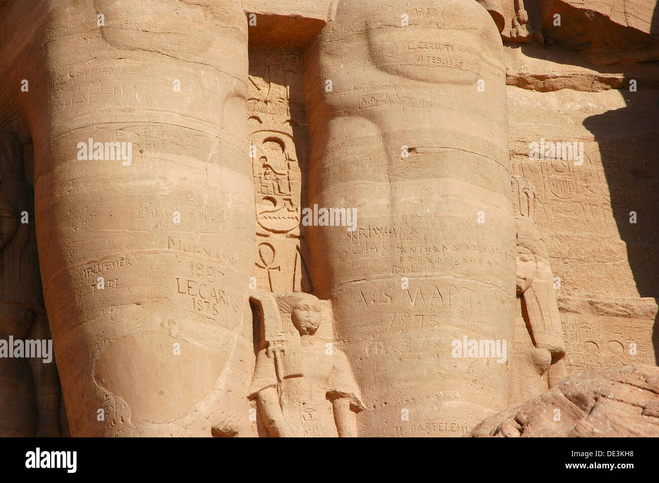 Abu Simbel, built  as a lasting monument to himself and his wife Queen Nefertari and to commemorate his victory Stock Photo