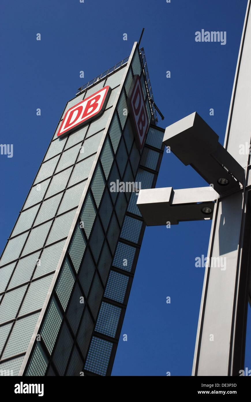Solar Tower in Berlin Hauptbahnhof - Stock Image