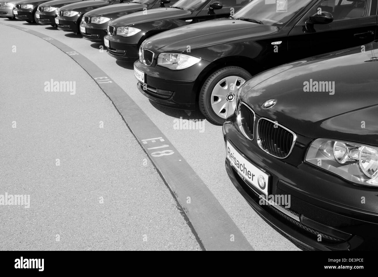 BMW Car Dealer in Bavaria - Stock Image