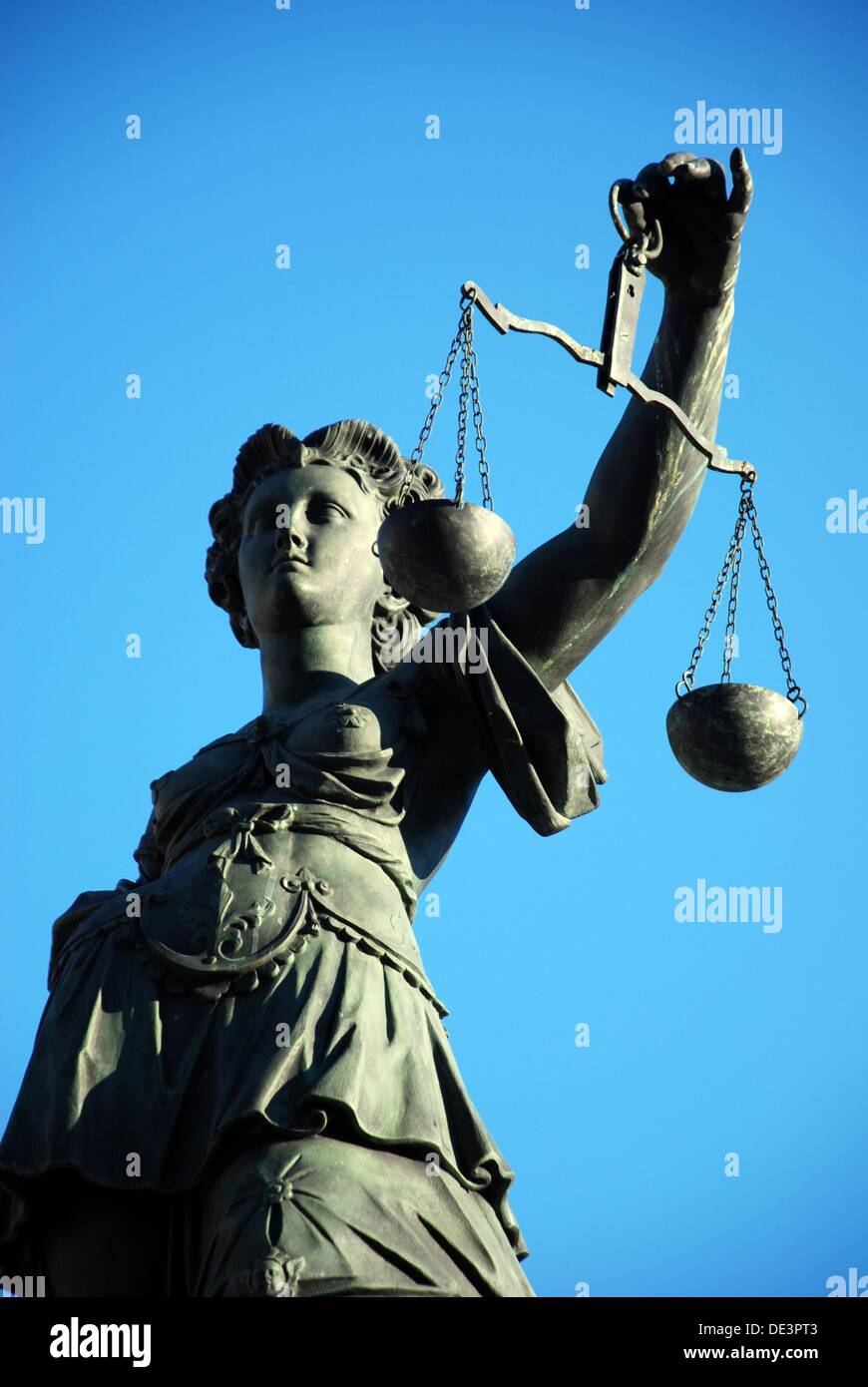 Statue of righteousness - Stock Image